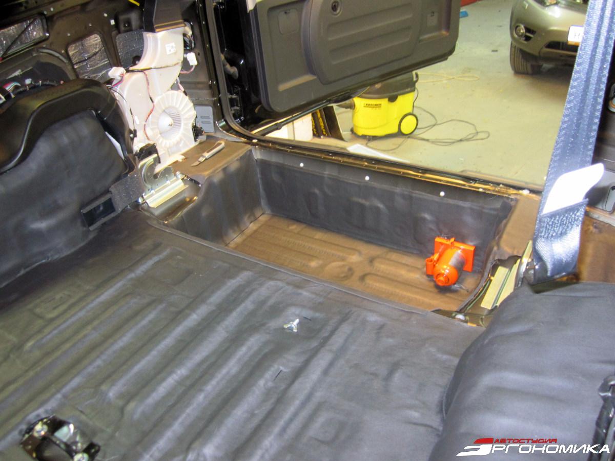 Как сделать шумку в багажник 510